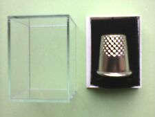 Wholesale 100 Clear Lid Thimble Display Boxes Black Thimble Pads   £33.25
