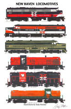 """New Haven Locomotives 11""""x17"""" Railroad Poster by Andy Fletcher signed"""