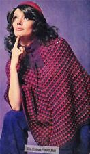 PONCHO & CAP / 8ply or DK - COPY Ladies crochet pattern