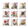 Pillow Sofa Case Cover Retro Linen Cute Decor Throw Cushion Flower Cotton Home
