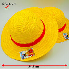 ONE PIECE Cosplay Hat Monkey D Luffy Straw Hat Anime Props Sunhat dia-19cm