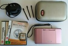 Nintendo DS Original PINK (Bundle) with Charger & Game More Brain Training