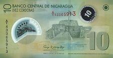 Nicaragua 10 Cordobas 2007 (2012) Polymer Pick 201b