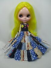 Blythe Outfit Handcrafted bohemian style dress basaak doll # 44-3