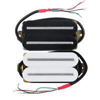 US Hot Rail Dual Blade Electric Guitar Humbucker Pickup Ceramic Black / White