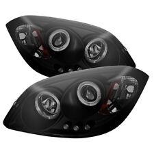 05-10 Cobalt 07-10 Pontiac G5 Dual Halo LED Projector Headlights Black Smoke
