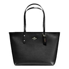 Coach City Zip Tote Bag Purse in Crossgrain Leather Saddle 2 F58846