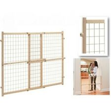 """Gate Extra Tall 32"""" Pet Door Fence Child Lock Wide Wood Dog Barrier baby safety"""
