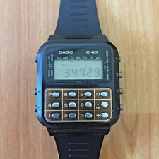 RARE VINTAGE CASIO C-80 [133] BROWN CALCULATOR WATCH - FULLY WORKING!