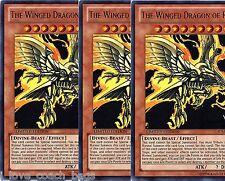 The Winged Dragon of Ra  JUMP-EN045 X 3 Ultra Rare Promo L/E holo foils yu gi oh