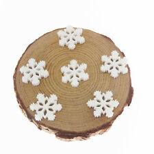 40pcs White Snowflake Resin Flatback Cabochons DIY Accessories Crafts Findings