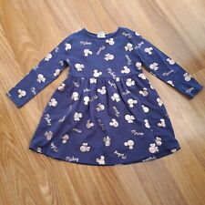 Navy Dress With Rose Gold Minnie Mouse 2-3 Years