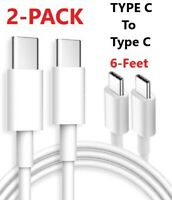 2X Type C to Type C 6FT Fast Charging  Cable Cord Charger for Samsung MacBook
