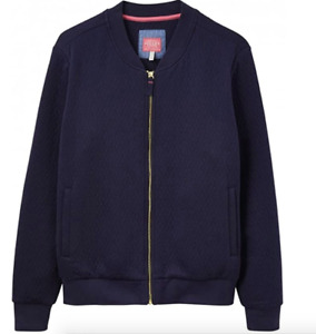 JOULES Millie Bomber Jacket Zip Up Cardy Navy RP£69.95 Sz 8 10 14 16 FreeUKP&P
