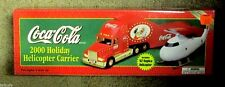 2000 COCA COLA HOLIDAY HELICOPTER CARRIER TRUCK & TRAILER NEW IN BOX Coke Santa