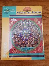 Huichol Yarn Painting 1000 Piece Puzzle Pomegranate Gonzalo Hernandez Carrillo