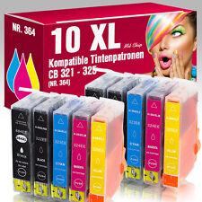 10 Patronen für HP Photosmart Premium Fax D5460 C5380 C6380 7510E 7520E 364XL