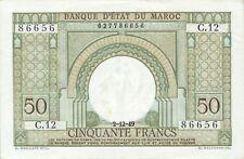 Morocco P-44 50 francs 1949 XF-AU