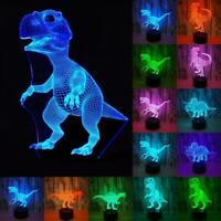 3D LED Nachtlicht T-Rex Jurassic Dinosaur Series Tisch Schreibtischlampe Kids