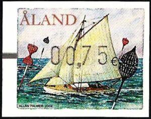 Aland 2009 - ATM stamp - Automatenmarken - Spar buoys - Yacht