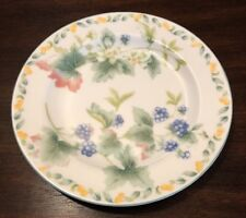 """Coventry Fine Porcelain Country Fruit 8"""" Salad Dessert Plate"""