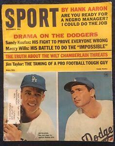 10.1965 SANDY KOUFAX MAURY WILLS Sport Magazine Los Angeles Dodgers Vintage Ads