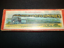 THE EMBOSSING COMPANY'S DOUBLE 12 EXPRESS DOMINOES VINTAGE GAME TRAINS COMPLETE