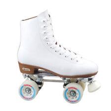 New! Chicago Skates Women's Deluxe Lined Rink Skate Speed Hooks White  Size 5