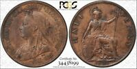"1898 Great Britain Half Penny PCGS Genuine-AU ""Cleaned"" Detail toned Coin"