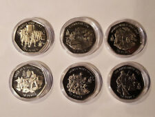 2004 Gibraltar 50p Fifty Pence History of the Royal Marines Coin Collection Set