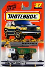 Matchbox MB 27 Earth Mover Dump Truck Mint On Card 1999