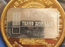 TREND RESEARCH COMMERCIAL ISSUE 999 SILVER ART BAR 1 TROY OZ USSC-283 RARE