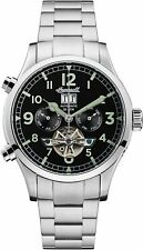 Ingersoll Men's I02103 Armstrong 46mm Black Dial Stainless Steel Watch