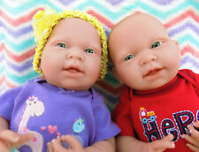 "Reborn baby twins boy girl doll preemie 15"" Inches Washable Berenguer Lifelike"