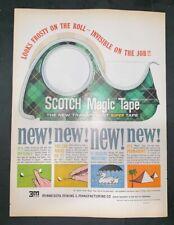 Life Magazine Ad SCOTCH MAGIC TAPE by 3M 1962 Ad