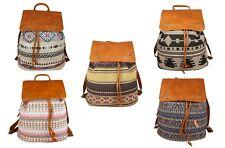 Ethno Rucksack Backpack Hippie Boho Goa Inka Bunt Cityrucksack Groß Indianer