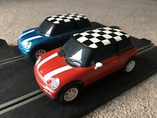 2 Scalextric BMW Mini Red And Blue  Used Unboxed Fast & Fun