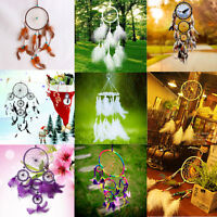 Dream Catcher Circular Feathers Wall Window Door Hanging Home Decor Ornament