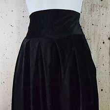 NOS Petticord Black Velvet Velour High Waist Pleated Tapered Tuxedo Pant XS