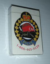 CN POLICE playing cards NEW set emergency Canadian National Railways Canada