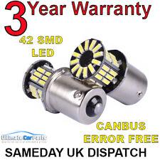 2 x 42Pc 382 Smd led 1156 Ba15s P21w 5w Car Turn Reverse Back Brake Light Bulb