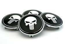4pc 60mm The Punisher Car Wheel Center Hub Caps Emblem Universal