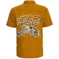 Never Forget King Kerosin Rockabilly Biker Ärmelloses Kariertes Hemd Shirt