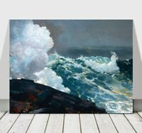 WINSLOW HOMER - Northeaster - CANVAS ART PRINT POSTER - Ocean Waves - 32x24""