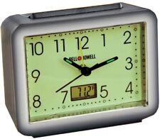 Bell and Howell Glow in the Dark Alarm Clock Compact Digital Alarm Clock