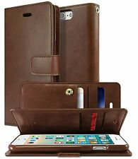 Double Flip Leather Wallet Card Book Case Cover For iPhone X 8 Plus /  Galaxy S8