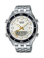 Casio Men's Quartz Ana-Digi Tide Graph Silver-Tone 44mm Watch AMW720D-7AV