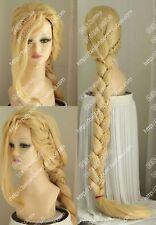 Ladies Tangled Rapunzel Braids Goldblond Long Wig  NEW Cosplay Wig @3
