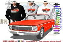 66 XP FALCON COUPE HOODIE ILLUSTRATED CLASSIC RETRO MUSCLE SPORTS CAR