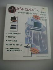 Table Tote Portable Workstation, Professional Model, Laptop, top surface extends